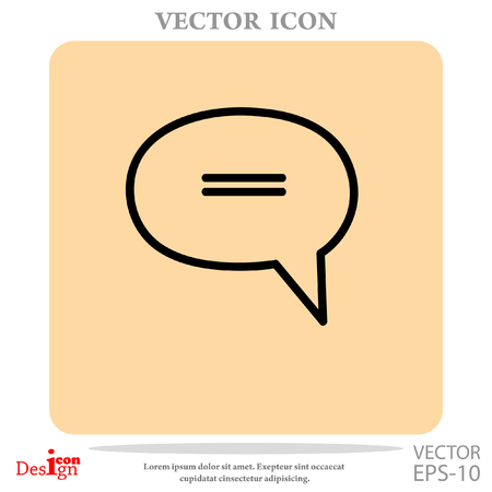message vector icon Illustration