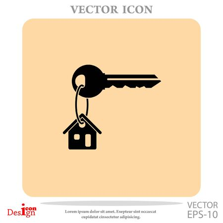 security lock: house key vector icon Illustration