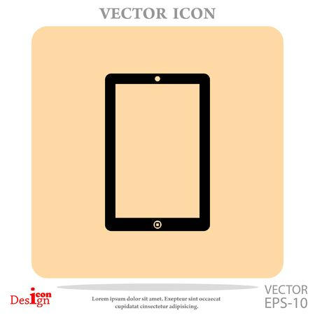 pda: touchpad vector icon Illustration