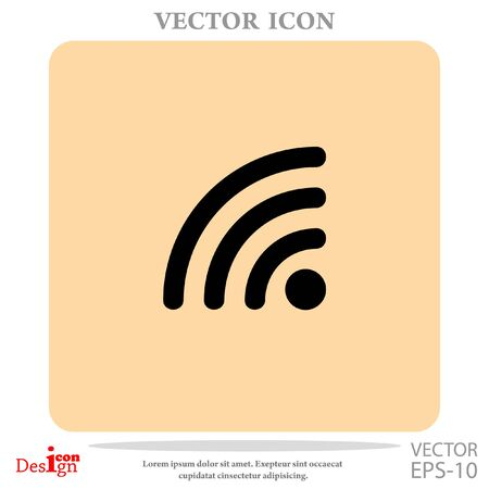 rss vector icon Illustration