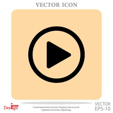 active arrow: play button vector icon