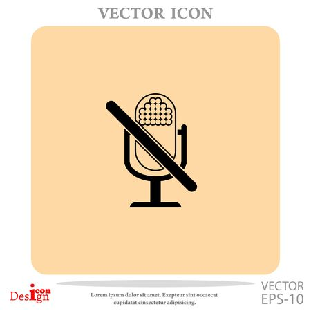 off the record: turn off microphone vector icon