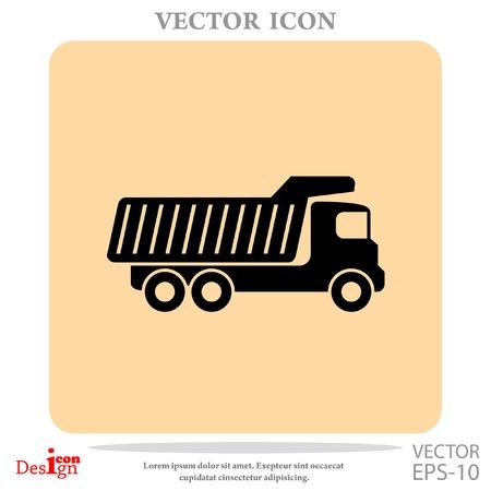 dump truck: dump truck vector icon