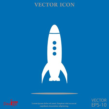 rocket vector icon Illustration