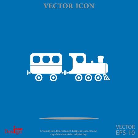vintage train vector icon