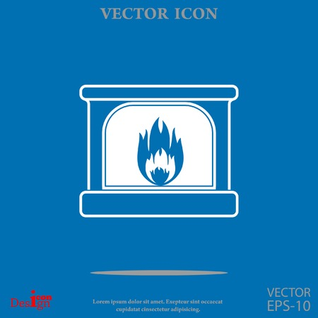 woodpile: fireplace vector icon