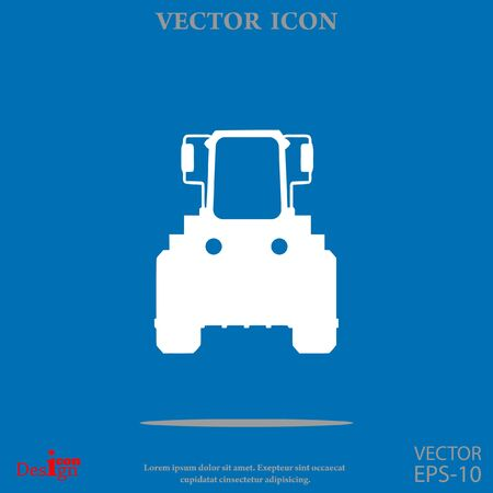 tractor vector icon Illustration