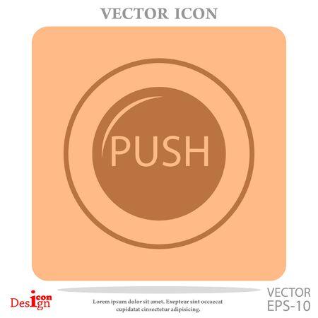 push button: push button vector icon
