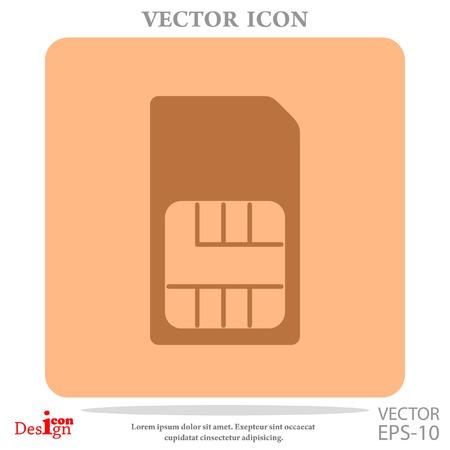 prepaid: sim card vector icon