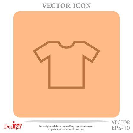 t short: t-shirt vector icon Illustration
