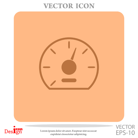 accelerated: speedometer vector icon