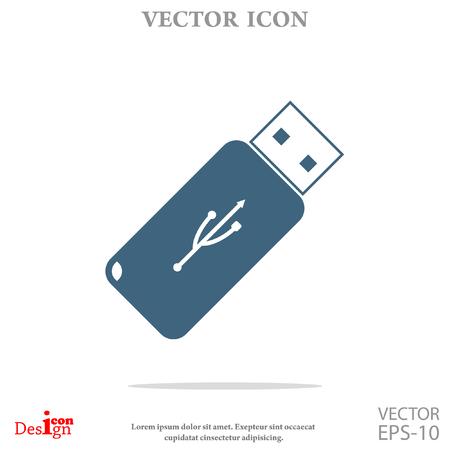 usb flash: usb flash vector icon