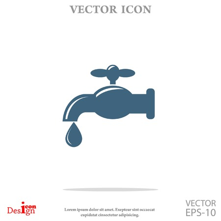 trickle: faucet vector icon Illustration