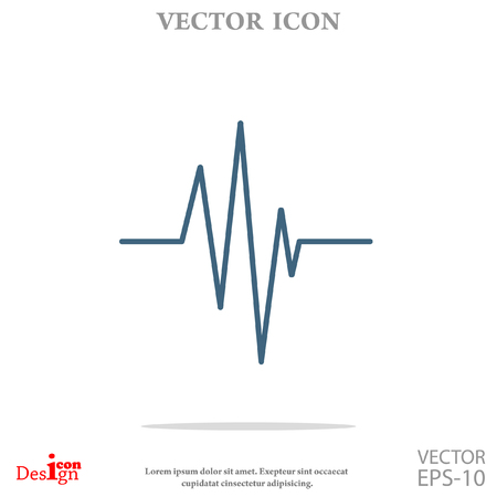 cardiogram: cardiogram vector icon