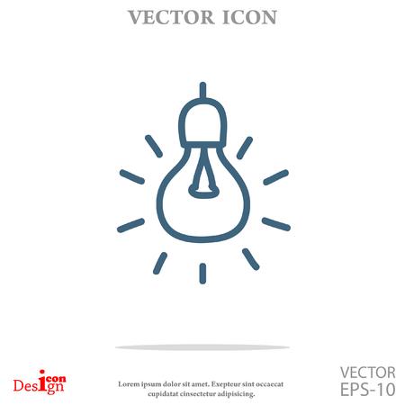 light bulb vector icon