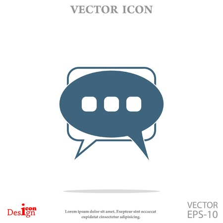 thought balloon: messages vector icon