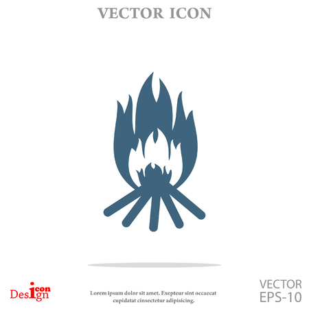 bonfire vector icon