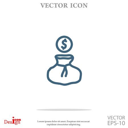 stack of dollar bill: money vector icon Illustration