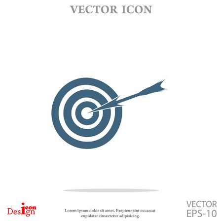 shooting at goal: aim vector icon