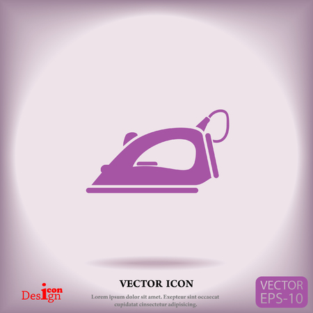 steam iron: steam iron vector icon