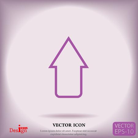 top pointer: arrow vector icon