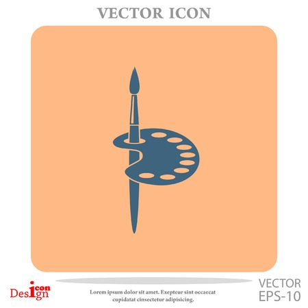 painter vector icon