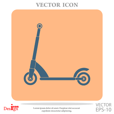 handlebar: kick scooter vector icon