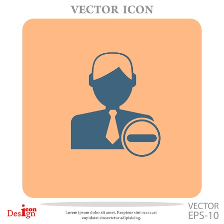 remove contact vector icon Illustration