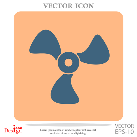airflow: cooler vector icon