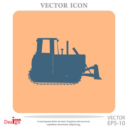 bulldozer vector icon Illustration