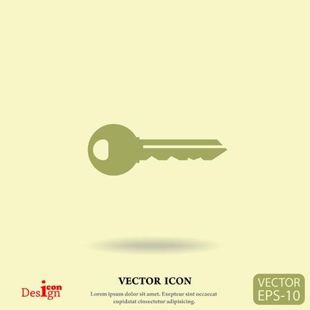cerrar la puerta: icono de la llave del vector