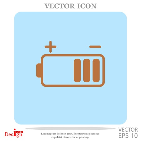 low energy: battery vector icon