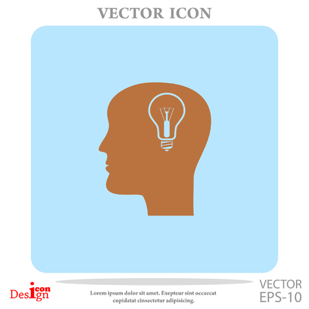 idea and man vector icon Illustration