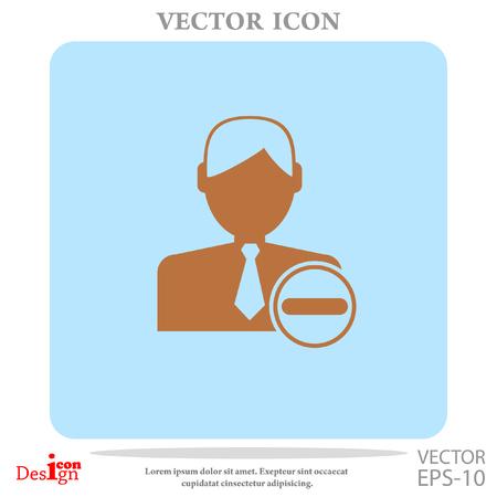 remove contact vector icon Illustration
