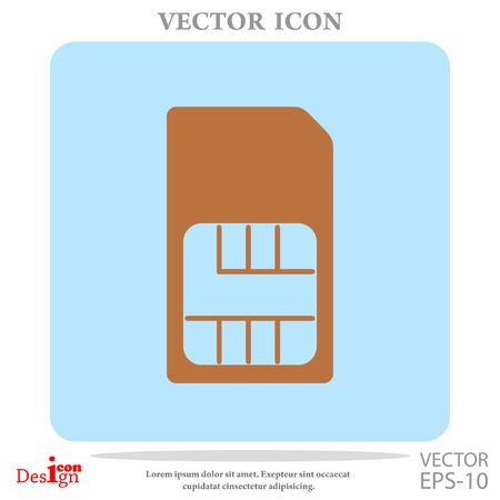sim card vector icon Stock Vector - 64071390
