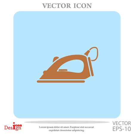 work clothes: steam iron vector icon