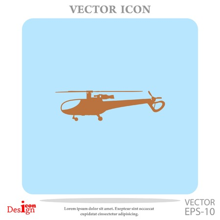 chopper: helicopter vector icon