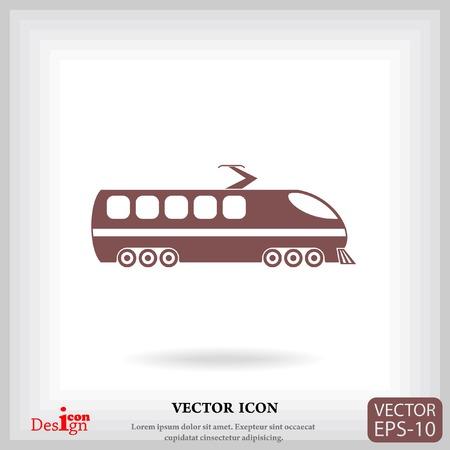 modern train: modern train vector icon Illustration