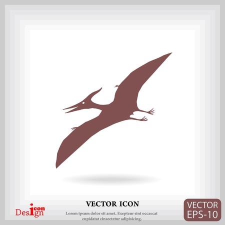 pterodactyl: pterodactyl vector icon