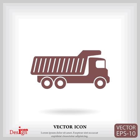 basurero: dump truck vector icon