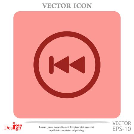 backwards button vector icon