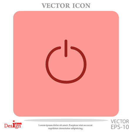 toggle switch: power vector icon