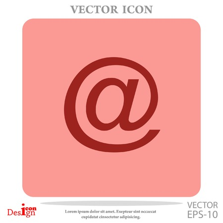 correspondence: email vector icon Illustration