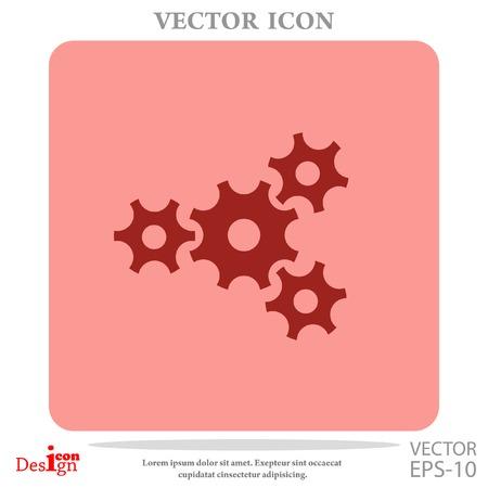 mechanism of progress: gears vector icon