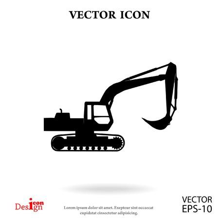 excavator vector icon
