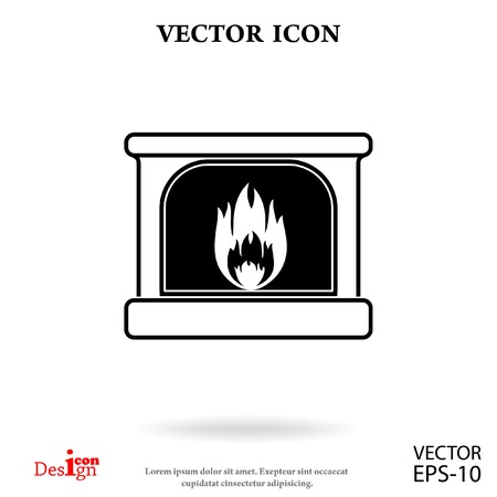 hearth and home: fireplace vector icon