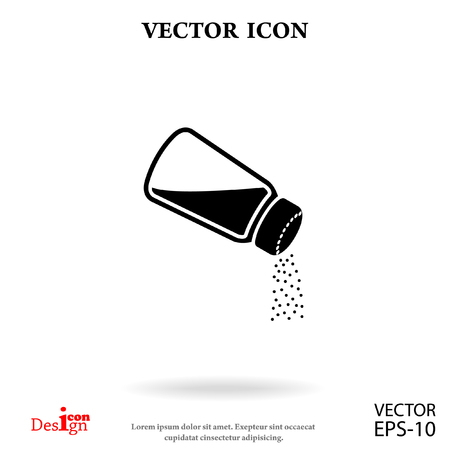 contemporary taste: salt vector icon Illustration