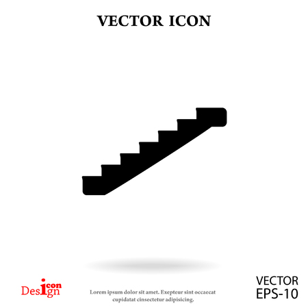 staircase vector icon Illustration