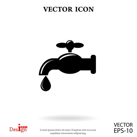 to trickle: faucet vector icon Illustration
