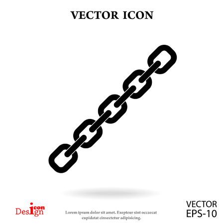 pressure linked: chain vector icon Illustration